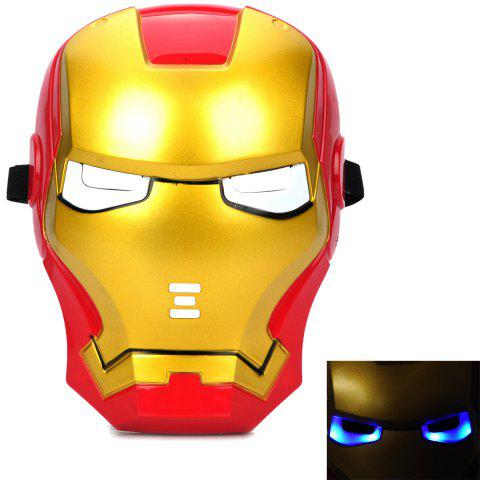 Store Cosplay Iron Man Mask with Blue Lite - Up Eyes Halloween Costumes - AS THE PICTURE  Mobile