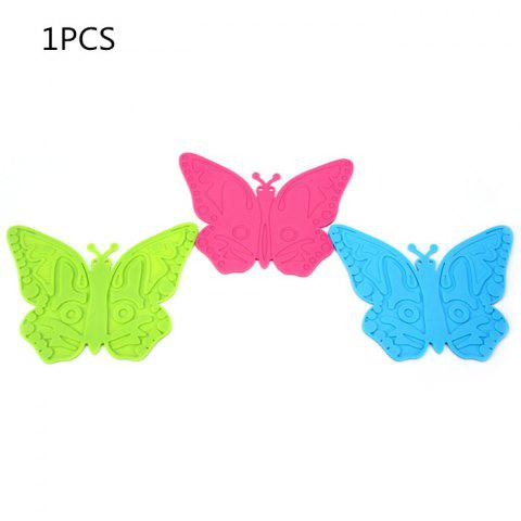 Store 1Pcs Silicone Butterfly Placemats Insulation Mat Home / Restaurant Usage