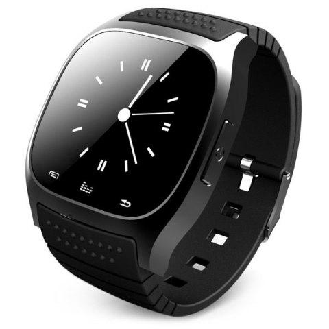 Trendy RWATCH M26 Bluetooth Watch LED Light Display with Dial / Call Answer / SMS Reminding / Music Player / Anti-lost / Passometer / Thermometer for Samsung / HTC BLACK