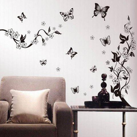 Fancy DIY New Simple Butterfly Pattern Home Decoration Decorative Wall Stickers