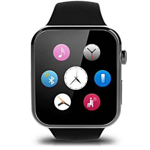 Trendy A9 Bluetooth 4.0 Smart Watch with Heart Rate Monitor Sport Tracker - BLACK  Mobile