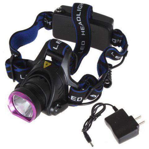 Online Outdoor Camping Cree XM-L T6 LED 1600 Lumen Scalable Headlight with 3 Modes for Night Cycling / Fishing - PURPLE  Mobile
