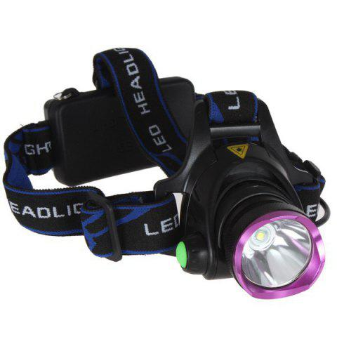Affordable Outdoor Camping Cree XM-L T6 LED 1600 Lumen Scalable Headlight with 3 Modes for Night Cycling / Fishing - PURPLE  Mobile