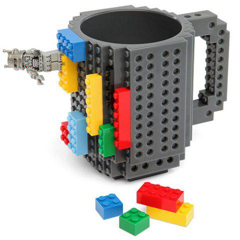 Outfit DIY Creative Building Blocks Style Build-On Brick Mug Tea Cup GRAY