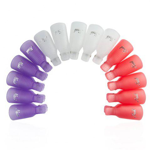 Shop Professional Reusable Plastic Nail Art Soakers with Cap Clip for UV Gel Polish Remover Wrap Tool - PURPLE  Mobile