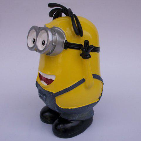 Best Creative Table Top Decoration Cartoon Shape Money Box - YELLOW  Mobile