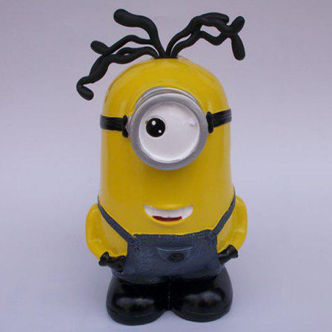 Sale Creative Table Top Decoration Cartoon Shape Money Box - YELLOW  Mobile