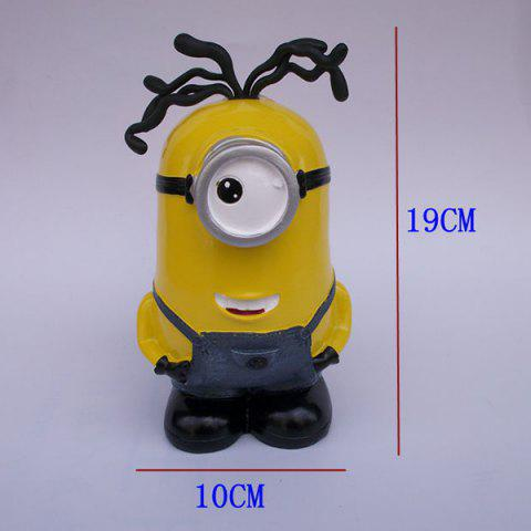 Hot Creative Table Top Decoration Cartoon Shape Money Box - YELLOW  Mobile