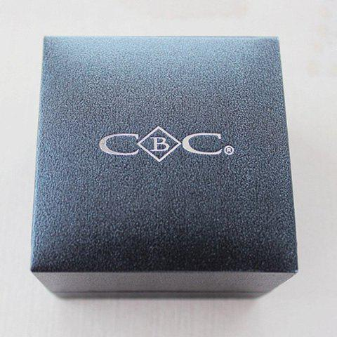 Store Delicate Letter Square Jewelry Box For Women - BLACK  Mobile
