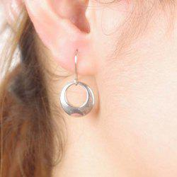 Pair of Circle Alloy Drop Earrings - SILVER