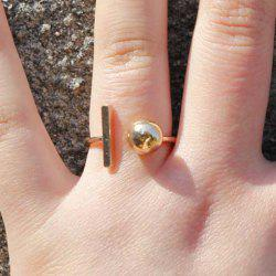 Ball Geometric Cuff Ring -
