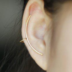 ONE PIECE Simple Solid Color Arc-Shaped Women's Ear Cuff -