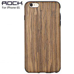 Rock Wood and TPU Material Phone Back Cover Case with Wood Grain Design for iPhone 6S / 6S Plus -