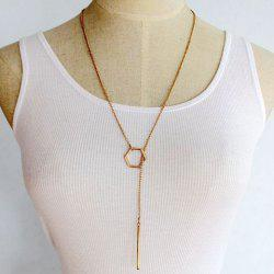 Bar Hollow Out Geometric Pendant Necklace -