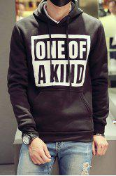 Graphic Print Pocket Pullover Hoodie -