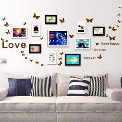 Chic Simple Home Decoration PVC Butterfly Pattern Decorative Wall Stickers -