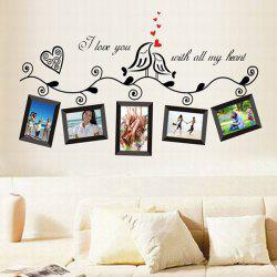 Stylish Photo Frame Pattern Home Decals PVC Wall Stickers - RANDOM