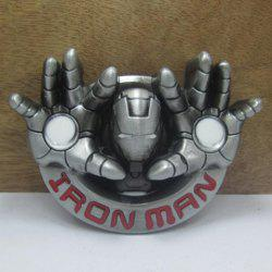 Stylish Iron Man Head and Hand Shape Embellished Belt Buckle For Men -
