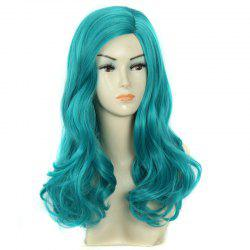 Towheaded Wavy Long Synthetic Charming Fashion Mint Green Centre Parting Women's Wig