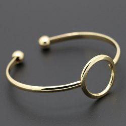 Hollow Out Round Cuff Bracelet