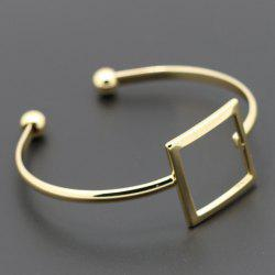 Chic Hollow Out Square Cuff Bracelet For Women