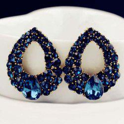 Pair of Luxury Faux Sapphire Waterdrop Earrings For Women