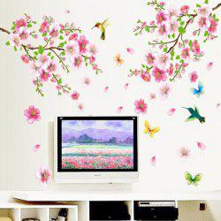 Chic Elegant Flower and Butterfly Pattern Home Decoration Decorative Wall Stickers -