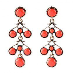 Pair of Graceful Faux Gemstone Bubble Shape Earrings For Women -