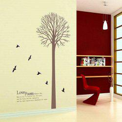 Creative Simple Big Tree and Letter Pattern Home Decoration Decorative Wall Stickers -