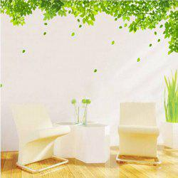Simple New Creative Green Leaf Pattern Home Decoration Decorative Wall Stickers -