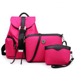 Drawstring Nylon Backpack 3Pc Set