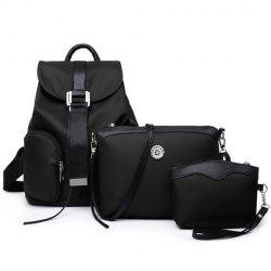 Simple Style Nylon et Satchel de broder Design Femmes - Noir