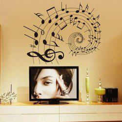 DIY Music Notes Home Decoration Decorative Wall Stickers - BLACK