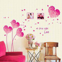 Stylish Creative DIY Pink Flower Pattern Home Decoration Decorative Wall Stickers -