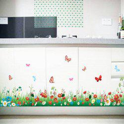 Stylish Creative DIY Grass and Flower Pattern Home Decoration Decorative Wall Stickers -
