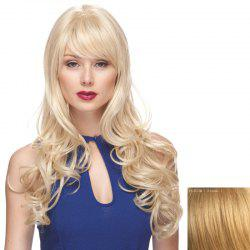 Shaggy Wavy Long Capless Charming Side Bang Human Hair Wig For Women -