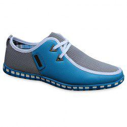 Stylish Color Block and Triangle Design Men's Casual Shoes - LIGHT BLUE