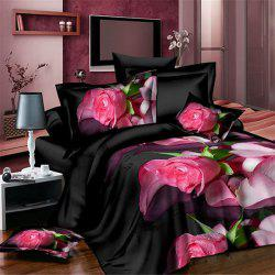 New High Definition Rose Petal Pattern 3D Full Size 4 Pcs Duvet Cover Sets ( Without Comforter ) -