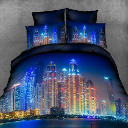 New High Definition Brilliantly Illuminated Pattern 3D Full Size 4 Pcs Duvet Cover Sets ( Without Comforter ) -