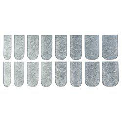 16pcs Solid Color Nail Art Flash Powder Texture Harajuku Agitation Perfect Stick Nail Stickers - SILVER