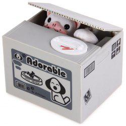 Creative Electric Steal Money Dog Coins / Piggy Bank with Sound Effects - GRAY