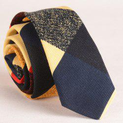 Stylish Color Splice Tartan Print Tie For Men
