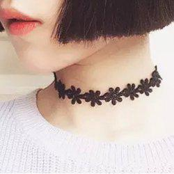 Vintage Daisy Flower Lace Choker Necklace