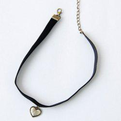 Retro Style Heart Shape Pendant Choker Necklace For Women -