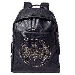 Fashion Bat and Rivets Design Men's Backpack - BLACK
