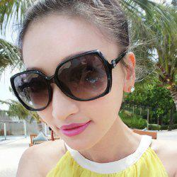 Flower Embellished Big Frame UV Protection Polarized Sunglasses