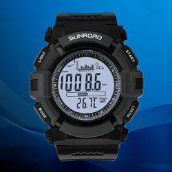 SUNROAD FR715A Multifunctional Sports Digital Watch Altimeter Fishing Barometer Wristwatch Water Resistance