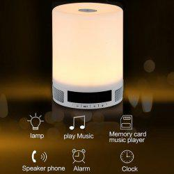 Multi-functional Portable Dimmable LED Desk Lamp Wireless Bluetooth 4.0 Music Speaker Light Digital Screen Display 4 Modes Touch Sensitive Nightlight -