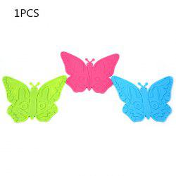 1Pcs Silicone Butterfly Placemats Insulation Mat Home / Restaurant Usage -