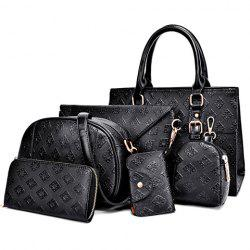 Elegant Buckle and Embossing Design Women's Tote Bag